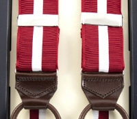 Single Stripe Braces in Red