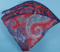 Silk Reversible Paisley Pocket Round in Fire