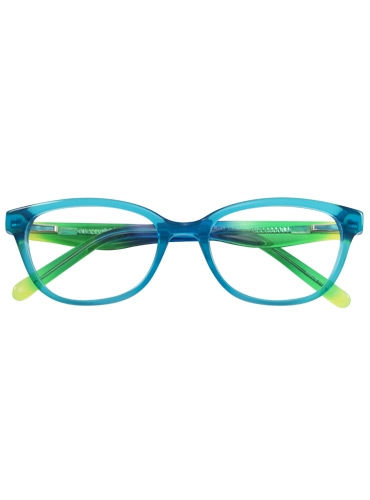 Rounded Rectangular Children's Frame in Teal and Lime