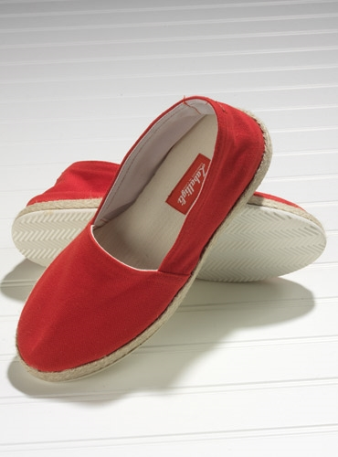 Red Canvas Espadrilles with Rubber Soles
