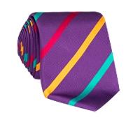Silk Bar Striped Tie in Violet