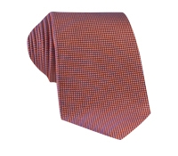 Silk Basketweave Tie in Salmon