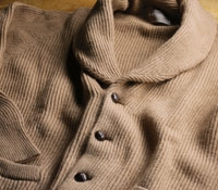 Camelhair Shawl Collar Cardigan