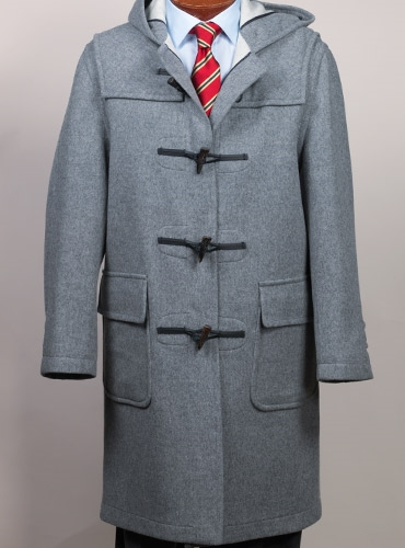 Classic Wool Duffle Coat in Grey