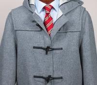 Classic Wool Duffle Coat in Grey