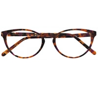 Oval Butterfly Frame in Purple Tortoise
