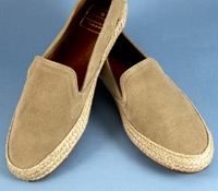 Ladies' Suede Espadrilles in Camel