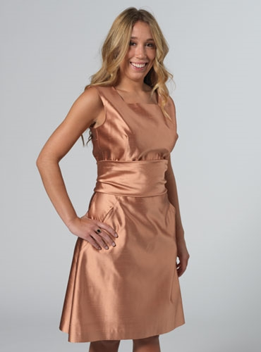 Sheath Dress in Salmon