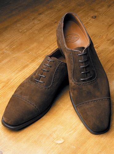 The Albany Oxford in Dark Brown Suede
