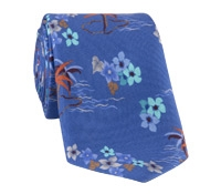 Silk Tropical Printed Tie in Persian
