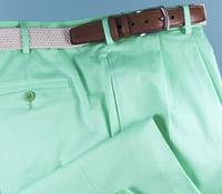 Summer Cotton Trousers in Seafoam, Size 46