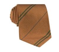 Multi-Stripe Silk Tie in Gold With Field