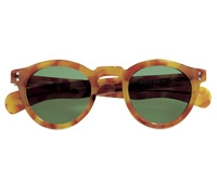 Bold Round Sunglasses in Honey Tortoise