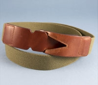 Stretch Twill Travel Belt in Olive