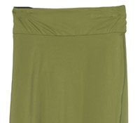 Marie Meunier Lightweight Jersey Ogive Wrap Skirt in Green