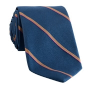 Tie Silk Stripe Devon Blue