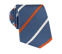 Mogador Double Striped Tie in Marine