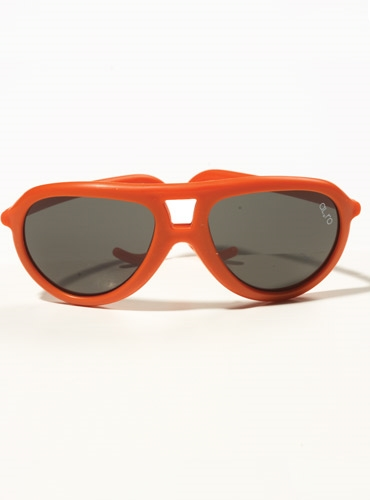 Children's Aviator Rubber Sunglass in Orange