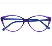 Bold Cat-eye Frame in Violet and Blue