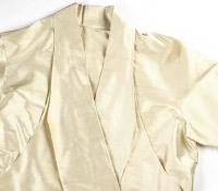 Marie Meunier Silk Wrap Blouse in Cream