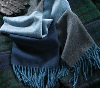 Wool and Alpaca Block Stripe Scarf
