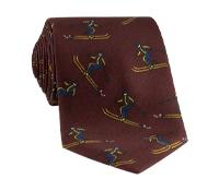 Jacquard Woven Ski Tie in Burgundy