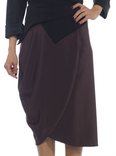 Marie Meunier Ogive Wrap Skirt in Purple