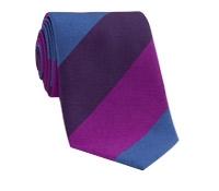 Silk Woven Multi Stripe Tie in Fuchsia, Purple, Regal