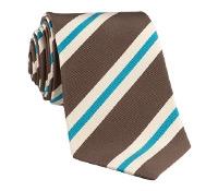Mogador Silk Stripe Tie in Mocha