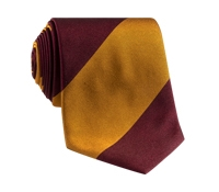 Silk Block Stripe Tie in Garnet