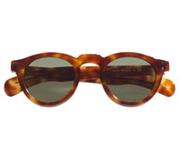 Round Sunglass in Amber