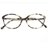 Round Cat-eye Frame in White Tortoise
