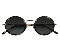 Lafont Retro Round Sunglasses in Tortoise