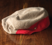 Ladies Beret Cashmere Ginger/Red