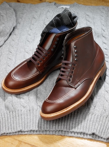 Dark Brown Aniline Leather Boots