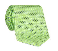 Silk Printed Dots Tie in Lime