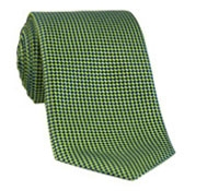 Silk Basketweave Tie in Lime and Marine