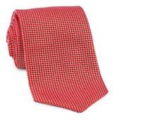 Basketweave Tie in Red, Sky & Orange