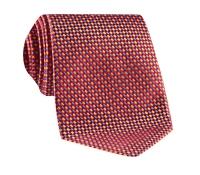 Basketweave Tie in Orange, Red & Sky