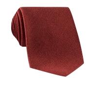 Wool, Silk and Cashmere Blend Solid Tie in Campari