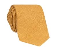 Silk Shantung Tie in Saffron