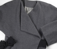 Marie Meunier Wool Jacket in Soft Grey