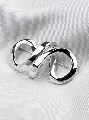 Sterling Silver Infinity Brooch