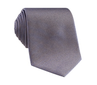 Silk Basketweave Tie in Pewter
