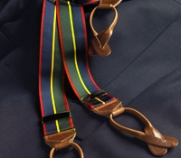 Navy, Olive & Red Striped Braces