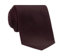 Woven Silk Solid Tie in Wine