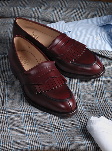 The Sonning Kiltie Loafer in Burgundy Calfskin