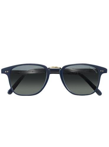 Semi-Square Sunglasses in Navy with Wire Bridge
