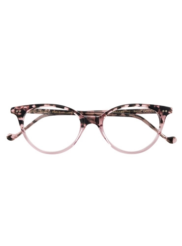 Lafont Upswept Oval Frames in Pink Tortoise