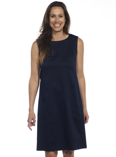 Ladies Poplin Shift Dress in Navy